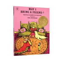 凯迪克金奖绘本 May I Bring a Friend?我可以带一个朋友过来吗?英文原版