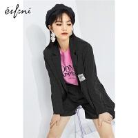伊芙丽西装外套女2021年春装韩版小西服贴标炸街西服女