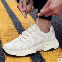老爹小白鞋韩版百搭男鞋运动跑步休闲鞋潮流纯色帆布潮鞋