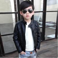 男童皮衣外套2017秋新款韩版儿童夹克宝宝中大童加绒加厚外套潮