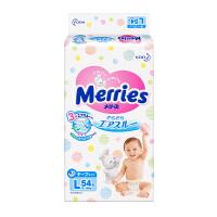 【澳门直购】日本花王Merries妙而舒纸尿裤 婴儿尿不湿 L码54片