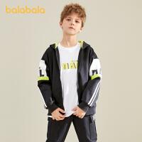 【3件4.5折:108】巴拉巴拉儿童外套男童春装2021新款童装男童中大童童装蝙蝠袖潮酷