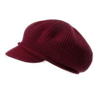 帽子女秋冬天时尚韩版贝雷帽保暖羊毛帽加厚针织帽包头帽毛线帽