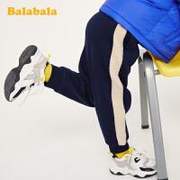 巴拉巴拉儿童裤子男女童冬2019新款长裤宝宝童装加绒休闲裤运动裤