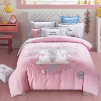 3D棉卡通加厚磨毛三四件套棉床�伪惶啄信�孩�和�床上用品套件