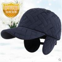 男士帽子保暖帽秋冬天护耳老年棒球帽加厚加绒棉帽保暖鸭舌帽