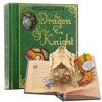 龙与骑士(立体书)英文原版 The Dragon & the Knight二次演绎经典童话