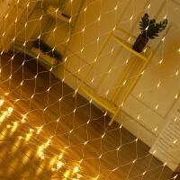 LED网灯彩灯闪灯串灯 网状满天星星圣诞节日装饰户外防水渔网灯
