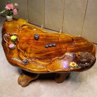 根雕茶桌金丝楠木茶海经济型茶台功夫茶具创意雕刻实木原木茶桌子 图片色