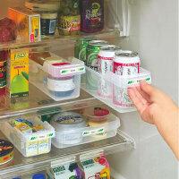 日本进口 冷藏食品整理抽屉 塑料分类储物盒 多用冰箱收纳盘
