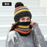 帽子围巾二件套女士冬天时尚韩版潮针织帽秋冬可爱百搭加绒加厚毛线帽