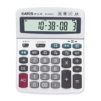 EATES/伊达时 语音型电子计算器BS-6000A语言发音/时间日期闹钟音乐计算机小学生中高考试得力助手办公用品 当