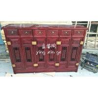 新中式仿古家具明清古典榆木四门四斗鞋柜实木储物柜明清古典 整装