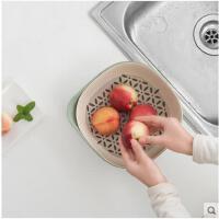 创意现代客厅果盘家用塑料可沥水果盘欧式大号简约双层时尚
