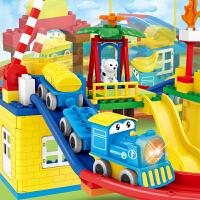 拖马斯小火车套装轨道车儿童电动兼容乐高积木汽车玩具男孩3456岁