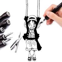 日本巨匠漫画笔学生勾线笔尖 丸 哨 D G笔尖加长笔杆漫画蘸水笔尖