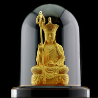 地藏王菩萨摆件汽车内饰品保平安王菩萨装饰品工艺品 图片色