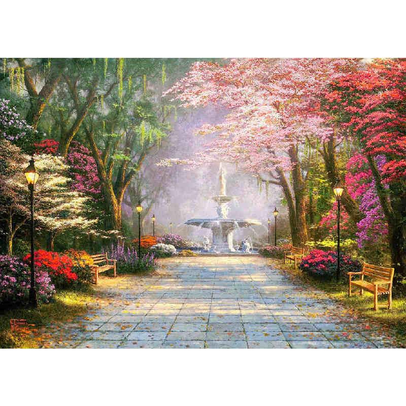 拼圖1000成人木質風景拼圖500世界名畫 卡通托馬斯油畫 公園