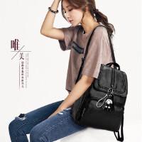 双肩包女韩版2018新款时尚百搭休闲学生包妈咪背包