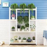 铁艺花架阳台多层置物架绿萝室内多功能整理收纳实木客厅