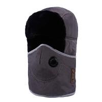 帽子男女冬季口罩雷锋帽户外保暖帽冬天护耳帽滑雪帽骑车防风冬帽 均码