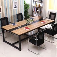 长桌会议桌简约现代办公家具长桌子工作台简易培训桌职员办公桌子