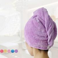 加大加厚珊瑚绒干发帽 强吸水浴帽 快速干发成人长发包头巾百货