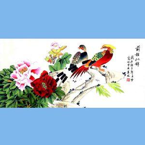 北京著名工笔画家,北京市美协会员,北京九久书画收藏文化交流中心画家凌雪(前程似锦)
