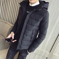 棉衣男保暖新款加厚冬季外套男装中长款棉服大码面包服连帽棉袄DJ-DS206