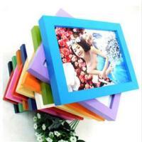 木质礼品相框 平板实木相框 照片墙 7寸挂墙粉色