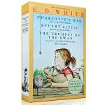 英文原版 E.B.White Box Set 夏洛特的网 Charlotte's Web 精灵鼠小弟Stuart Little 吹小号的天鹅3本套盒装  进口美国初中小学课外阅读学习英语章节故事书