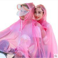 成人女士加大加厚加长透明雨披雨衣电动车 双人摩托车电瓶车透明雨披雨衣