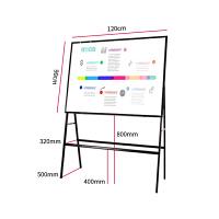 得力33357白板磁性办公支架式黑板教学写字板家用会议板落地书写板会议书写板多种规格可选