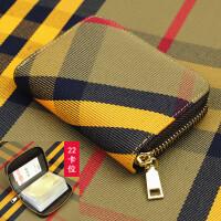 韩版帆布拉链卡包女式多功能放卡的小钱包男士风琴卡套卡片包