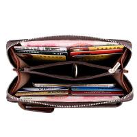 袋鼠男士钱包手包男士手机包卡包钥匙包多功能钱包 咖啡色 送