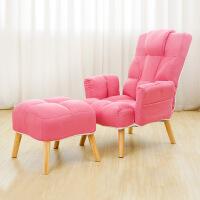 喂奶椅懒人沙发榻榻米日式卧室单人沙发椅喂奶可折叠多功能午休靠背躺椅