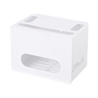无线路由器电线收纳盒机顶盒置物架WIFI电源线插座理线器免打孔