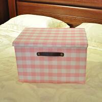 衣服收纳箱有盖可折叠布艺衣柜橱收纳盒内衣物整理箱特大号储物箱