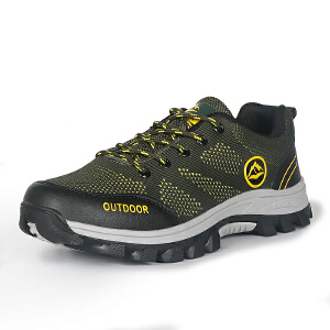 户外登山鞋男轻便透气休闲鞋鞋防滑减震越野跑步鞋低帮舒适徒步鞋