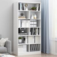 【满200减30】柏易 环保加厚清新款组合钢木书柜 小户型多层书橱组合书架置物架货架展示架