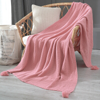 北欧沙发毯盖毯办公室午睡披肩毯子针织毛线毯休闲空调毛毯床尾毯定制