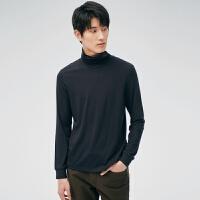 网易严选 男式美碧雅高领亲肤T恤