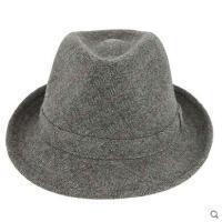 男帽加厚毛呢帽子时尚礼帽中老年潮流男帽冬季加厚礼帽