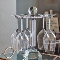创意红酒杯架家用创意高脚杯红酒杯架倒挂家用欧式葡萄酒杯架子现代简约6只装摆件