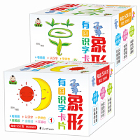 象形有图识字卡 盒装 识字卡片0-3-6岁学龄前儿童全脑记忆带拼音启蒙宝宝象形书 幼儿基础认字卡看图识字汉字教材撕不烂