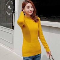 针织衫 女士半高领加绒加厚短款毛衣2020年冬季新款韩版时尚潮流女式修身洋气女装打底衫