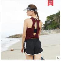 瑜伽背心女防震聚拢美背吊带专业运动内衣跑步外穿长款健身服上衣