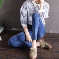 【支持礼品卡支付】春季新款高腰弹力牛仔裤女小脚长裤显瘦学生铅笔裤