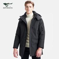 七匹狼羽绒服男士中长款冬季帅气潮流男款外套保暖加厚男装百搭潮