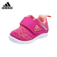 【3折价:89.7元】阿迪达斯(adidas)秋婴幼童男女童学步鞋透气防滑鞋AH2382 玫红色